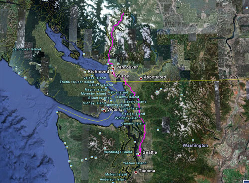 Itinerario del 1 giugno 2010