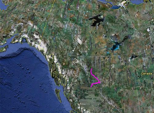 Itinerario del 4 giugno 2010